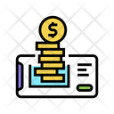 Electronic Money Phone Icon