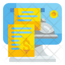 Electronic Bill Payment Ticket Icon
