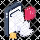 Online Bill Digital Invoice Online Receipt Icon