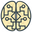Electronic Brain Circuit Icon