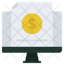 Electronic Business Receipt Invoice Icon