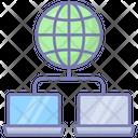 Electronic Communication Block Chain Network Icon