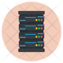 Electronic Datacenter Storage Server Server Rack Icon