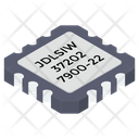 Electronic Microchip Icon