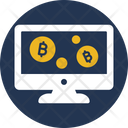 Electronic Money Online Transaction Online Cryptocurrency Icon