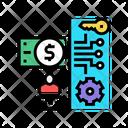Electronic Money Security Online Transaction Electronic Icon