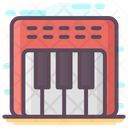Electronic Musical Piano Keyboard Musical Instrument Icon