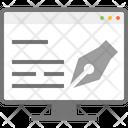 Signature Edit Electronic Signature Icon
