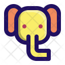 Elephant Cute Zoo Icon