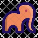 Elephant Face Cute Icon