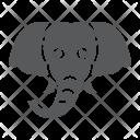 Elephant Mammal Face Icon