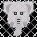 Elephant Face Elephant Head Emoji Icon