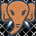 Elephant Face Animal Icon