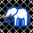 Elephant Safari Travel Icon