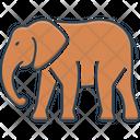 Elephant Herbivorous Trunk Icon