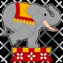 Elephant Show Circus Carnival Animal Cartoon Icon