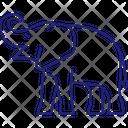 Elephant Mammal Savannah Icon