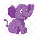 Elephant Zoo Animal Icon