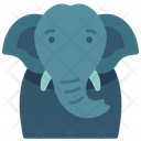 Elephant Animal Creature Icon