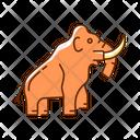 Elephant Mammoth Animal Icon