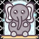 Elephant Cartoon Icon