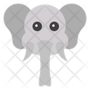 Elephant Face Icon