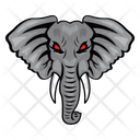 Elephant Mascot Elephant Face Loxodonta Face Icon