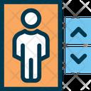 Elevator Men Person Icon