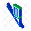 Cable Elevator Inclined Icon