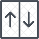 Elevator Doors Transportation Icon