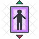 Elevator Sign Up Icon