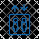 Elevator Sign Man Icon