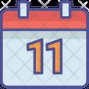 Eleven Date Calendar Icon