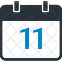 Eleven Date Calendar Calendar Date Icon