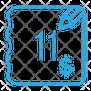 Eleven Dollar Bill Icon