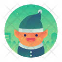 Elf Character Christmas Icon