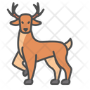 Winter Elk Deer Icon