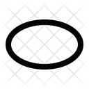 Ellipse Geometry Math Icon