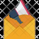 Email Internet Marketing Megaphone Icon