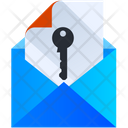 Email Access Email Key Access Icon
