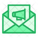 Mail Email Loud Speaker Icon
