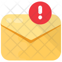 Email Caution Alert Icon