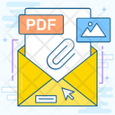 Email Letter Office Stationery File Binder Icon