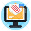 Media Attachment Email Attachment Mail Attachment Icon