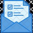 Email Checklist Email List Checklist Icon