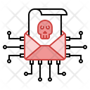 Email Hacking Spam Icon