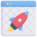 Internet Marketing Startup Rocket Icon