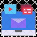 Media Laptop Mail Icon