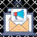 Email Marketing Transactional Marketing Email Promotion Icon