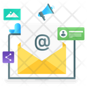 Email Marketing Mail Promotion Email Advertising Icon